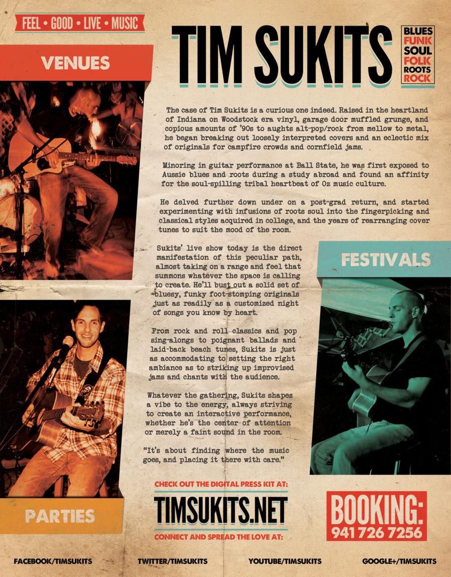 Tim Sukits Press Kit